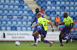 Frank Nouble of Colchester United runs at the Exeter City defence - Mandatory by-line: Arron Gent/JMP - 18/06/2020 - FOOTBALL - JobServe Community Stadium - Colchester, England - Colchester United v Exeter City - Sky Bet League Two Play-off 1st Leg