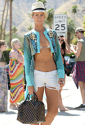 Celebrities arriving at Coachella Music Festival in Indio, California. 14 Apr 2017 Pictured: Lady Victoria Hervey. Photo credit: MEGA TheMegaAgency.com +1 888 505 6342