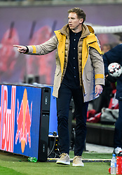 LEIPZIG, Feb. 26, 2019  Hoffenheim's head coach Julian Nagelsmann reacts during a German Bundesliga match between RB Leipzig and TSG 1899 Hoffenheim in Leipzig, Germany, on Feb. 25, 2019. The match ended in a 1-1 draw. (Credit Image: © Kevin Voigt/Xinhua via ZUMA Wire)
