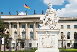 Statue of Alexander von Humboldt at Humboldt University in Berlin Germany