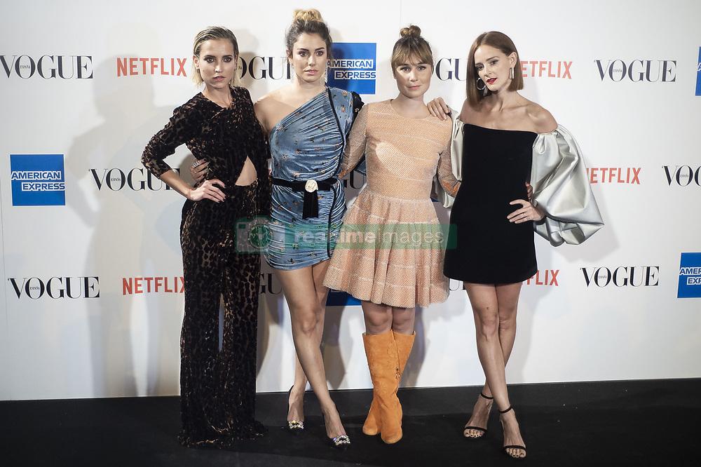 September 13, 2018 - Madrid, Spain - Ana Fernandez, Blanca Suarez, Nadia de Santiago and Ana Polvorosa attends to photocall of Vogue Fashion Night Out 2018 in Madrid, Spain. September 14, 2018. (Credit Image: © Coolmedia/NurPhoto/ZUMA Press)