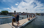 Henley. Great Britain. General View, Boating Area. University of California, Berkeley, USA  boating for their afternoon heat in the Ladies Challenge Plate  175th  Henley Royal Regatta, Henley Reach. England. 14:07:14  Friday  04/07/2014. [Mandatory Credit; Peter SPURRIER/Intersport-images]