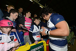 Bristol Rugby's Gaston Cortes signs autographs - Photo mandatory by-line: Dougie Allward/JMP - Mobile: 07966 386802 - 17/04/2015 - SPORT - Rugby - Bristol - Ashton Gate - Bristol Rugby v Jersey - Greene King IPA Championship