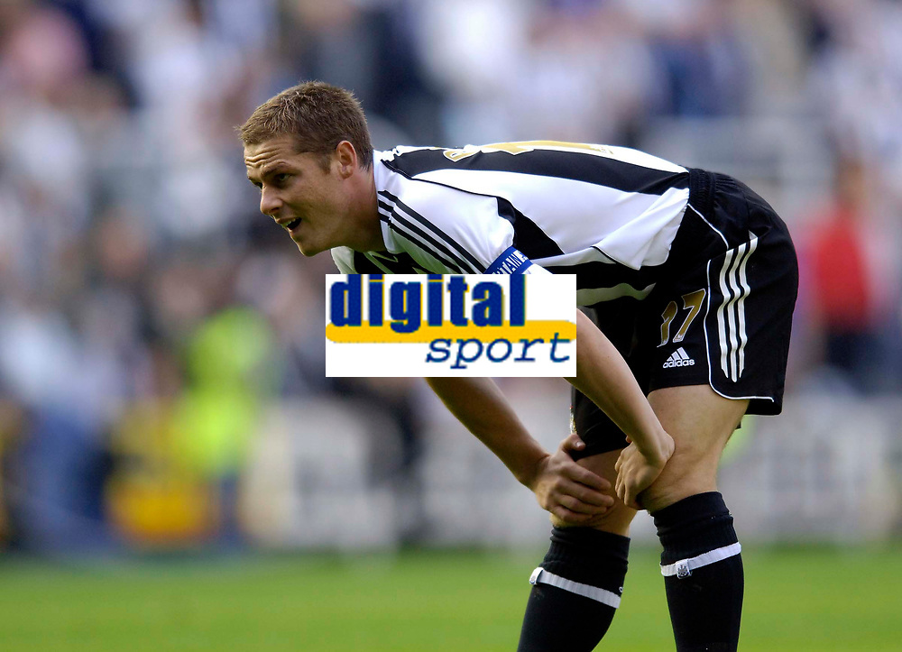Photo: Jed Wee.<br /> Newcastle United v Everton. The Barclays Premiership. 24/09/2006.<br /> <br /> Newcastle captain Scott Parker.