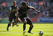 Liverpool's Divock Origi in action. Premier league match, Stoke City v Liverpool at the Bet365 Stadium in Stoke on Trent, Staffs on Saturday 8th April 2017.<br /> pic by Bradley Collyer, Andrew Orchard sports photography.