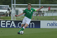 Nathan Collins of Republic of Ireland (5) during the UEFA European Under 17 Championship 2018 match between Bosnia and Republic of Ireland at Stadion Bilino Polje, Zenica, Bosnia and Herzegovina on 11 May 2018. Picture by Mick Haynes.