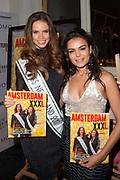 Launch van de nieuwe AmsterdamXXXL 5 in Momo, Amsterdam.<br /> <br /> Op de foto:  Farrieda Smit en Nicky Opheij