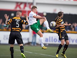 Hibernian's Jason Cummings.<br /> half time : Alloa Athletic 0 v 1 Hibernian, Scottish Championship game played 30/8/2014 at Alloa Athletic's home ground, Recreation Park, Alloa.