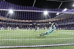 January 27, 2019 - Toulouse, France - Penalty Max Gradel (tfc) vs Ludovic Butelle  (Credit Image: © Panoramic via ZUMA Press)