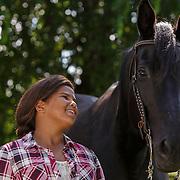 20160621 Girl and Quarter Horse - Seven