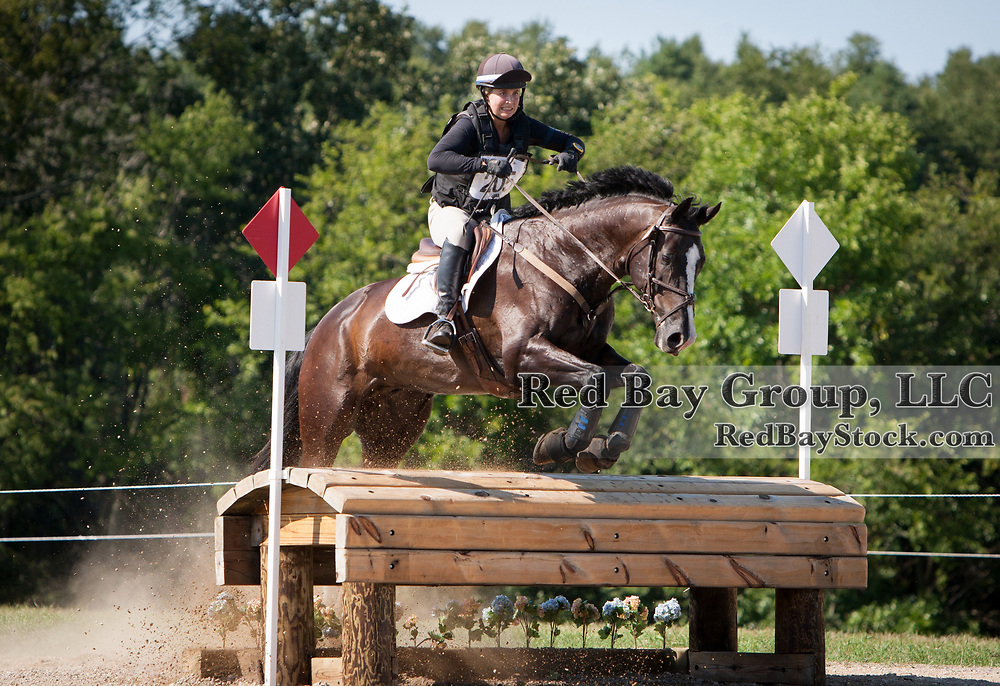 Lindsay Beer and Karbon Kopy at the 2013 Richland Park Horse Trials held in Richland, Michigan.
