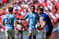 August 5, 2018 - Jorginho of Chelsea and Riyad Mahrez of Manchester United during the 2018 FA Community Shield match between Chelsea and Manchester City at Wembley Stadium, London, England on 5 August 2018. (Credit Image: © AFP7 via ZUMA Wire)