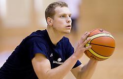 Jaka Blazic during practice session of Slovenian National Basketball team during training camp for Eurobasket Lithuania 2011, on July 12, 2011, in Arena Vitranc, Kranjska Gora, Slovenia. (Photo by Vid Ponikvar / Sportida)