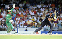 South Africa's wicketkeeper Mark Boucher appeals for lbw against England's Kevin Pietersen during the ICC World Twenty20 match at the Kensington Oval, Birdgetown, Barbados.