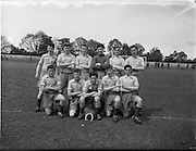 05/06/1955<br /> 06/05/1955<br /> 05 June 1955<br /> F.A.I. Minor Cup Final, Tower Rovers v Drumcondra at Whitehall, Dublin. The Drumcondra team.