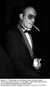 Hunter S.  Thompson at the Literary lions Annual dinner. New York Public Library. 9 November 1989. Film DJ89553f10<br />