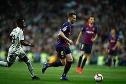 March 2, 2019 - Madrid, MADRID, SPAIN - Ivan Rakitic of FC Barcelona and Vinicius Jr of Real Madrid during the spanish league, La Liga, football match played between Real Madrid and FC Barcelona at Santiago Bernabeu Stadium in Madrid, Spain, on March 02, 2019. (Credit Image: © AFP7 via ZUMA Wire)