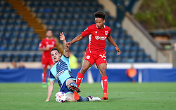 Bobby Reid of Bristol City is tackled by Stephen McGinn of Wycombe Wanderers - Mandatory by-line: Robbie Stephenson/JMP - 09/08/2016 - FOOTBALL - Adams Park - High Wycombe, England - Wycombe Wanderers v Bristol City - EFL League Cup