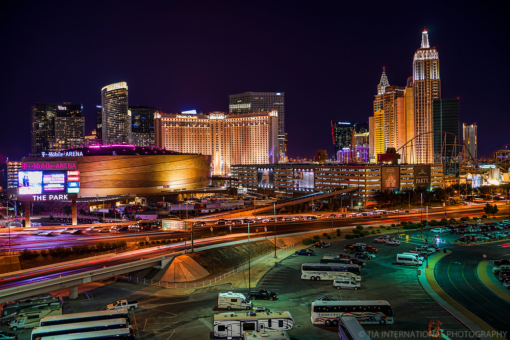 Tropicana Avenue featuring T-Mobile Arena & The Monte Carlo, NYNY Hotels