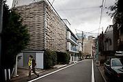 TOKYO, JAPAN - 19 MARCH - A contemporary house in Dankanyama.- March 2012
