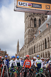 And now we wait. The countdown to the start in Ieper begins - Women's Gent Wevelgem 2016, a 115km UCI Women's WorldTour road race from Ieper to Wevelgem, on March 27th, 2016 in Flanders, Netherlands.