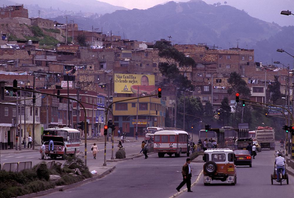 Dangerous southern Bogota suburb.1992