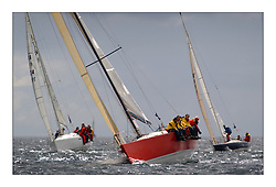 Yachting- The first days inshore racing  of the Bell Lawrie Scottish series 2003 at Tarbert, Loch Fyne.  Light shifty winds dominated the racing ... IRL5851 'Cracklin Rosie' a Corby 40 from Howth won Class one overall....Pics Marc Turner / PFM