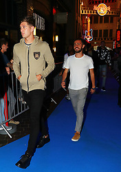 John Stones and  Bernardo Silva arriving for the All or Nothing: Manchester City, world premiere at Vue Printworks, Manchester.