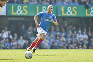 Portsmouth Forward, James Vaughan (32) during the EFL Sky Bet League 1 match between Portsmouth and Coventry City at Fratton Park, Portsmouth, England on 22 April 2019.