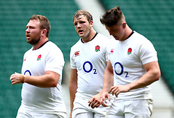 Joe Launchbury of England and teammates take part in training at Twickenham ahead of the upcoming tour of Argentina - Mandatory by-line: Robbie Stephenson/JMP - 02/06/2017 - RUGBY - Twickenham - London, England - England Rugby Training
