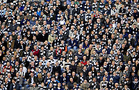 Photo: Jed Wee.<br /> Newcastle United v Portsmouth. The Barclays Premiership. 26/11/2006.<br /> <br /> Newcastle hand out black and white scarves to their fans as a sea of black and white fills the stadium.