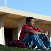 Carlos Barrera, 18, a freshman at California State University, Northridge, a first generation immigrant from El Salvador. Please contact Todd Bigelow directly with your licensing requests.