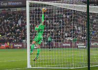 Football - 2016 / 2017 Premier League - West Ham United vs. West Bromwich Albion<br /> <br /> Ben Foster of West Bromwich Albion tips the ball onto his cross bar before Sofiane Feghouli of West Ham follows up to score from the rebound at the London Stadium.<br /> <br /> COLORSPORT/DANIEL BEARHAM