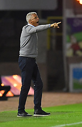 Carlisle United's Manager Keith Curle shouts instructions to his team