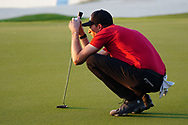Sebastian Heisele (GER) on the 18th during Round 2 of the Commercial Bank Qatar Masters 2020 at the Education City Golf Club, Doha, Qatar . 06/03/2020<br /> Picture: Golffile | Thos Caffrey<br /> <br /> <br /> All photo usage must carry mandatory copyright credit (© Golffile | Thos Caffrey)