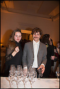 FLORA NAUGHTIE; CRISTIAN DI MARTINO, James Naughtie: The Madness of July published by Head of Zeus - book launch party, ICA, London. 25 February 2014.