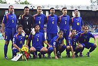 ◊Copyright:<br />GEPA pictures<br />◊Photographer:<br />Thomas Karner<br />◊Name:<br />Andorra<br />◊Rubric:<br />Sport<br />◊Type:<br />Fussball<br />◊Event:<br />FIFA WM 2006, Qualifikation, Tschechien vs Andorra, CZE vs AND<br />◊Site:<br />Liberec, Tschechien<br />◊Date:<br />04/06/05<br />◊Description:<br />Mannschaft von Andorra<br />◊Archive:<br />DCSTK-0406054033<br />◊RegDate:<br />05.06.2005<br />◊Note:<br />OK/JM - Nutzungshinweis: Es gelten unsere Allgemeinen Geschaeftsbedingungen (AGB) bzw. Sondervereinbarungen in schriftlicher Form. Die AGB finden Sie auf www.GEPA-pictures.com.<br />Use of picture only according to written agreements or to our business terms as shown on our website www.GEPA-pictures.com