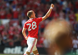 Thomas Lam of Nottingham Forest celebrates scoring his sides second goal - Mandatory by-line: Jack Phillips/JMP - 06/08/2016 - FOOTBALL - The City Ground - Nottingham, England - Nottingham Forest v Burton Albion - EFL Sky Bet Championship