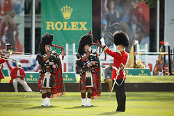 The Band of the Scots Guards <br /> Telus Cup<br /> Spruce Meadows Masters - Calgary 2015<br /> © Hippo Foto - Dirk Caremans<br /> 09/09/15