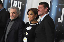 NEW YORK, NY - DECEMBER 13: Robert De Niro, Grace Hightower, James Packer attends the premiere of 'Joy' at Ziegfeld Theater on December 13, 2015 in New York City....People:  Robert De Niro, Grace Hightower, James Packer. (Credit Image: © SMG via ZUMA Wire)