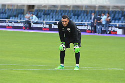 BERGAMO, June 1, 2018  Egyptian goalkeeper Essam El-Hadary is seen during a training session in Bergamo, Italy, on May 31, 2018. The Egyptian national team held a training session on Thursday at the Atleti Azzurri d'Italia stadium in Bergamo, Italy in preparation for the pre-World Cup friendly against Colombia. (Credit Image: © Xinhua/Str/Xinhua via ZUMA Wire)