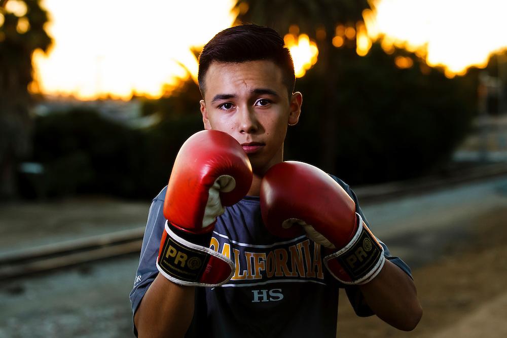 161103 Boxing, La Habra, Boxing Club<br /> Portrait, <br /> © Daniel Malmberg/Sports Shooter Academy 13