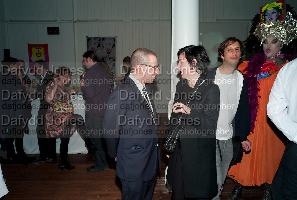 JONATHAN NEWHOUSE; SHARLEEN SPITERI; DANIEL LISMORE, 30 Years Of i-D - book launch. Q Book 5-8 Lower John Street, London . 4 November 2010. -DO NOT ARCHIVE-© Copyright Photograph by Dafydd Jones. 248 Clapham Rd. London SW9 0PZ. Tel 0207 820 0771. www.dafjones.com.