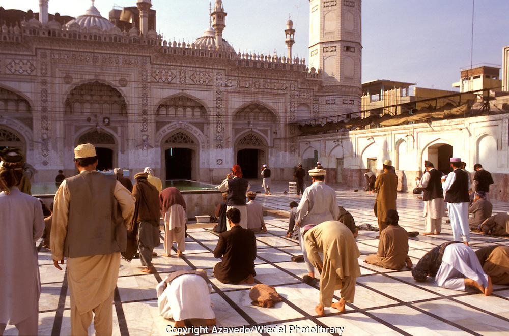 Prayer in Mahabat Khan mosque in Peshawar Pakistan.