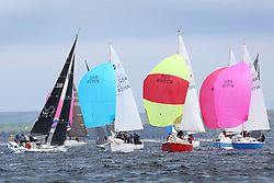 The Silvers Marine Scottish Series 2014, organised by the  Clyde Cruising Club,  celebrates it's 40th anniversary.<br /> Day 2, mixed fleet, Sonata, GBR8215N, Red Hot Poker, Murray Caldwell, Cove SC, 8098N, Serenity, D Guthire/J Park, FYC<br /> Racing on Loch Fyne from 23rd-26th May 2014<br /> <br /> Credit : Marc Turner / PFM