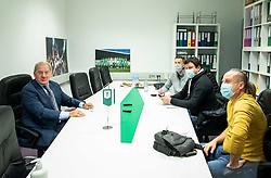 Milan Mandaric, president of NK Olimpija talking to journalists during official presentation of a new coach of NK Olimpija Ljubljana before the spring season of Prva liga Telekom Slovenije 2020/21, on January 12, 2021 in Ljubljana, Slovenia. Photo by Vid Ponikvar / Sportida