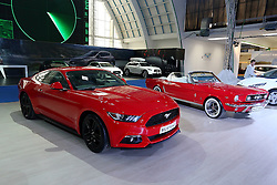 05.04.2016, Zagreb, CRO, Zagreb Auto Show, im Bild Ford Mustang // Press day at Zagreb fair before official opening of Zagreb Auto Show at Zagreb, Croatia on 2016/04/05. EXPA Pictures © 2016, PhotoCredit: EXPA/ Pixsell/ Dalibor Urukalovic<br /> <br /> *****ATTENTION - for AUT, SLO, SUI, SWE, ITA, FRA only*****