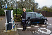 One of the Chargemaster EV charging points as part of the POLAR Network in Milton Keynes, United Kingdom. The POLAR Network has over 6,000 charging points across the United Kingdom.