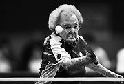SYDNEY, AUSTRALIA - OCTOBER 15:  Dorothy De Low aged 99 has a practice hit after her opponent did not turn up during the Sydney 2009 World Masters Games at Hurstville Aquatic Leisure Centre on October 15, 2009 in Sydney, Australia. (Photo by Craig Golding/Getty Images for Sydney 2009 World Masters Games)  (Photo by Craig Golding/Getty Images)