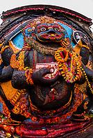 Statue of Kali, Durbar Square, Kathmandu, Nepal.